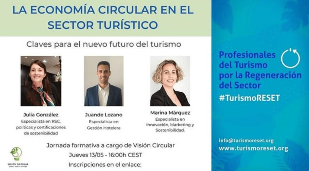 Evento Economía Circular TurismoRESET Visión Circular